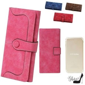 My Bag Lady Online Bags - Vegan Suede Wallet 17 slots fits your Phone!